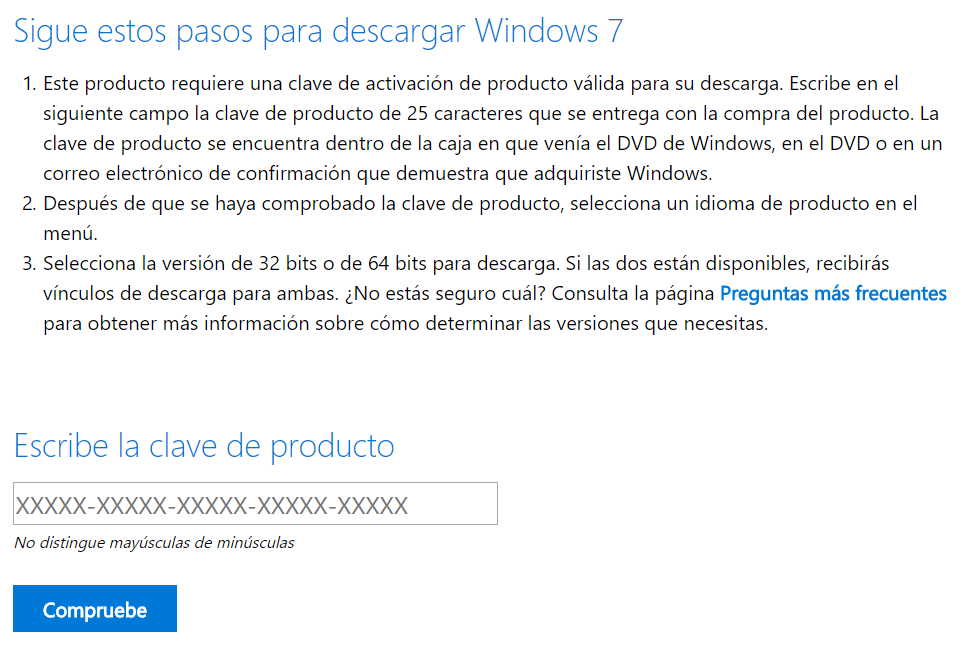 Descargar Windows 7 ISO