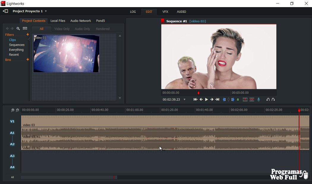 Lightworks Editor de video gratis