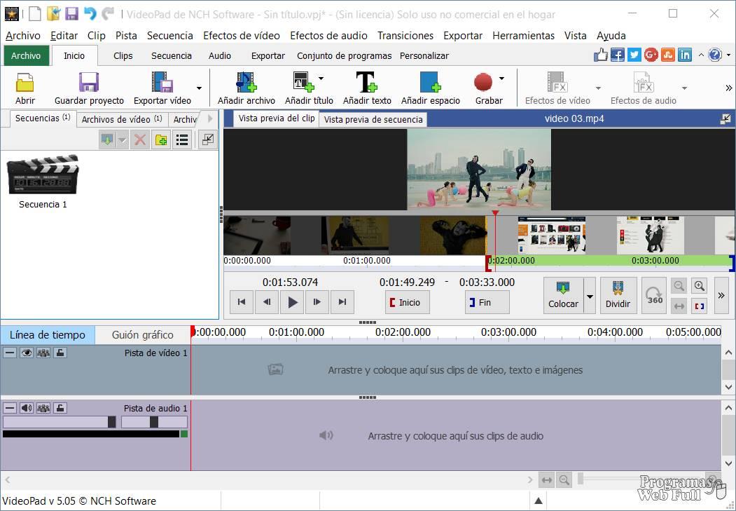 VideoPad editor de video