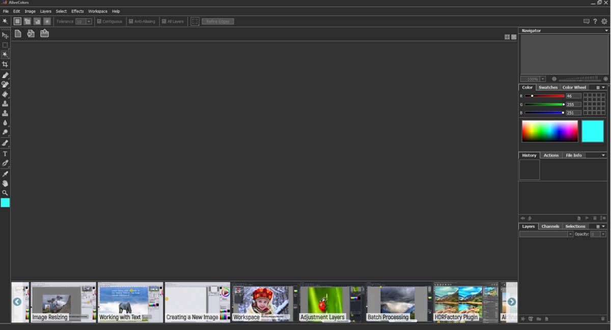 AliveColors editor de imágenes