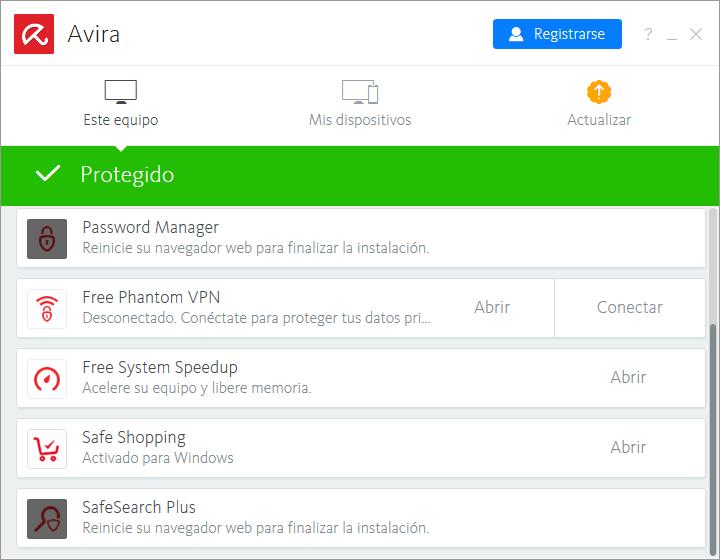 Avira Free Security Suite 2018 Antivirus