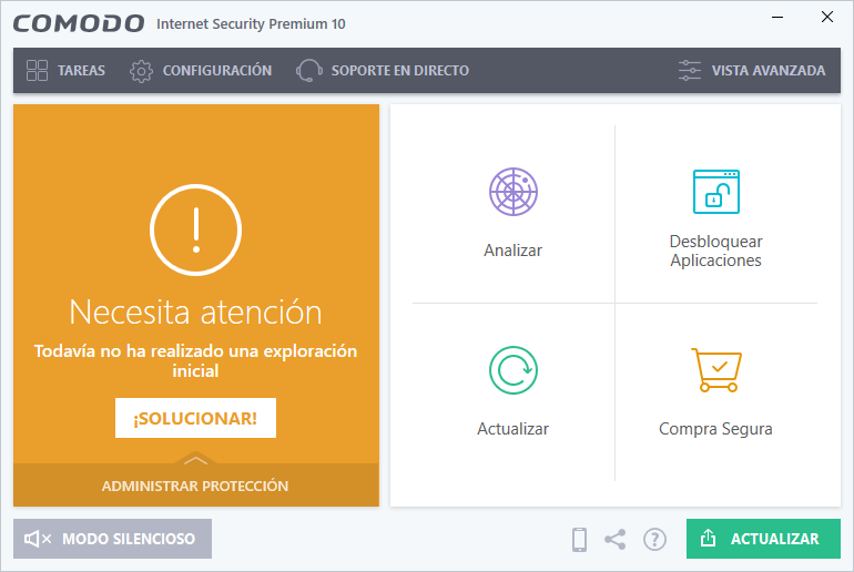 Comodo Antivirus 10 para Windows 10