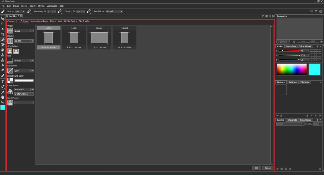 Creación de imágenes AliveColors