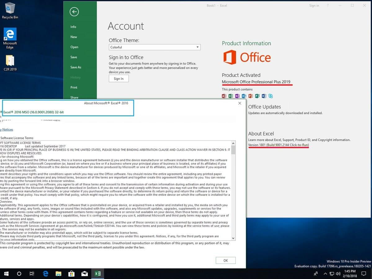 ISO Office 2019 Pro Plus 1801