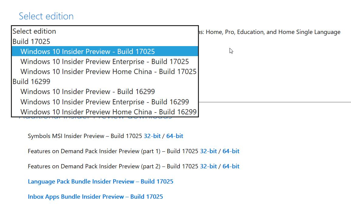ISO de Windows 10 Insider Preview