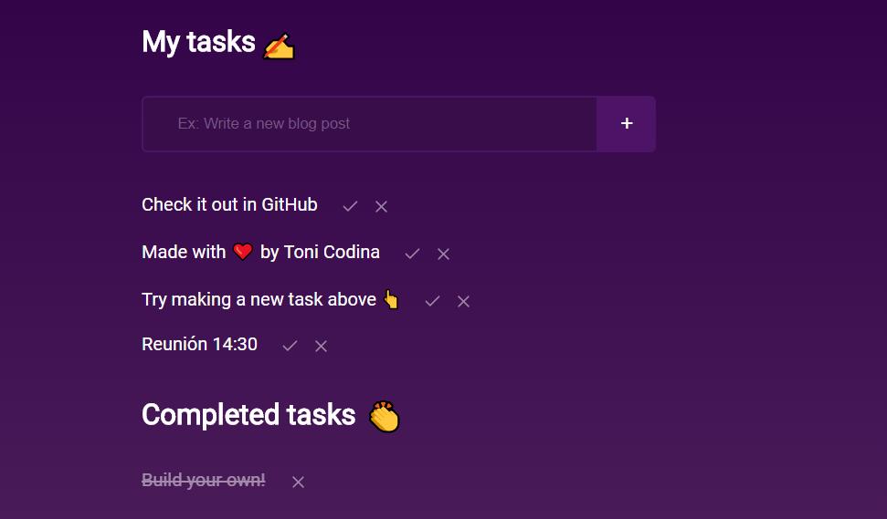 Simple todo tareas cookies navegador