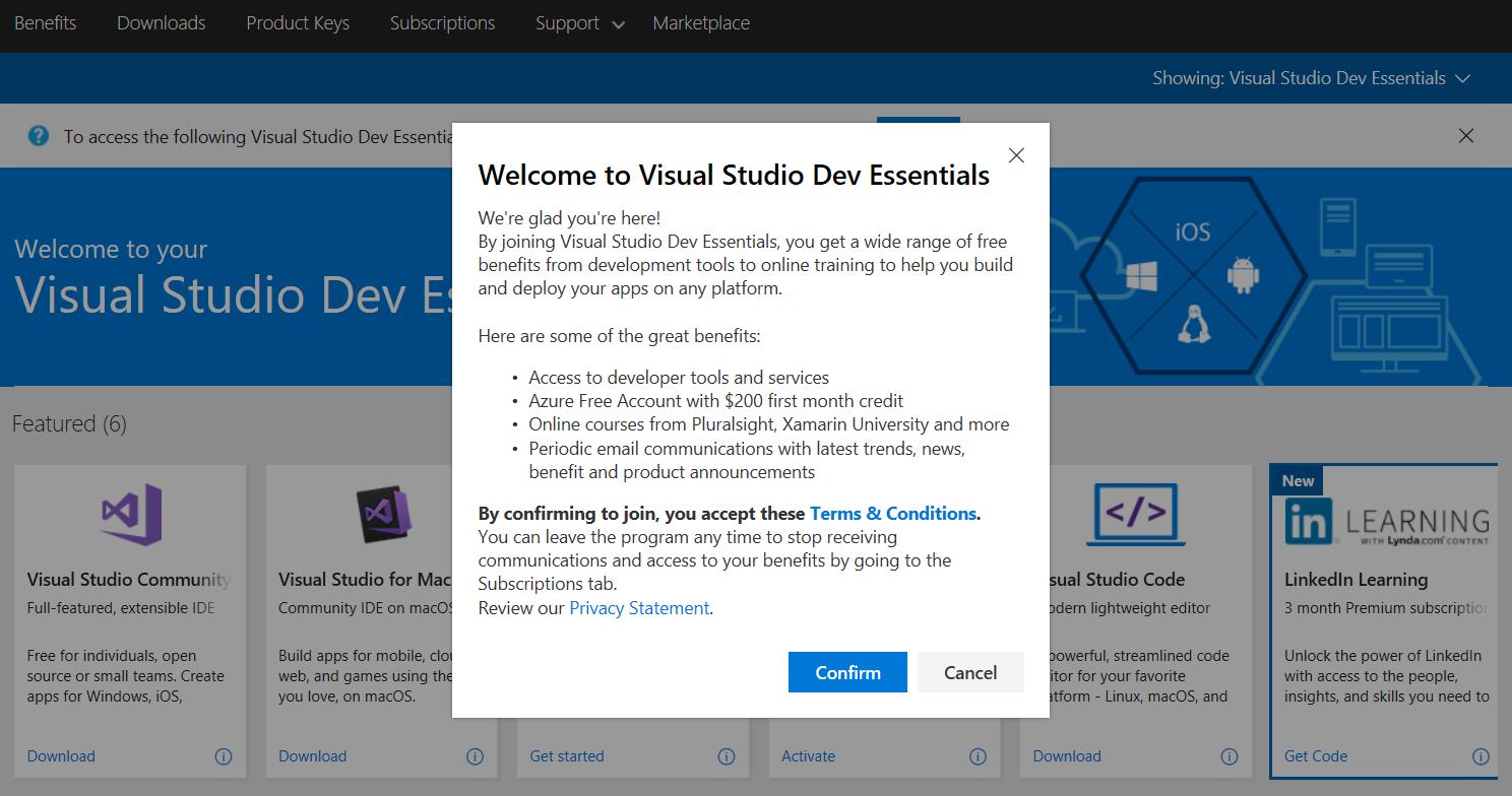 Suscripción Visual Studio