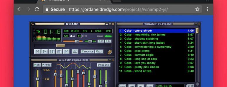 Winamp2 js version web winamp