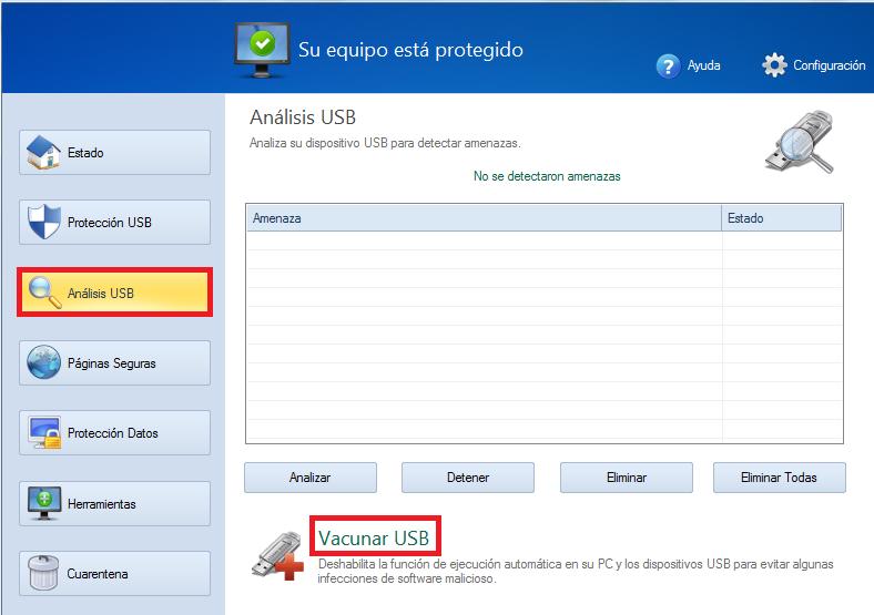Vacunar USB Disk Security