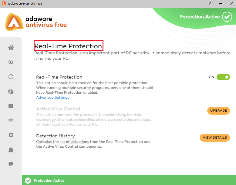 Protección en tiempo real de Adaware